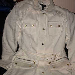 I. N. C white/beige trench coat